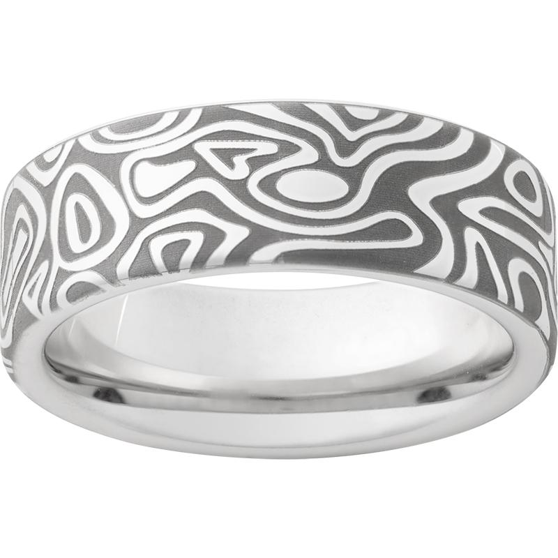 Serinium® Pipe Cut Band with Journey Laser Engraving