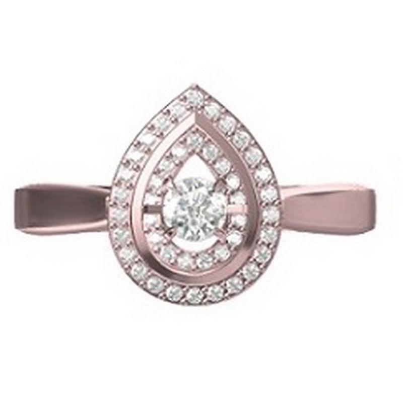 14K Diamond Rhythm Of Love Ring 1/4 ctw