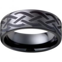 Black Diamond Ceramic™ Pipe Cut Band with Braid Laser Engraving