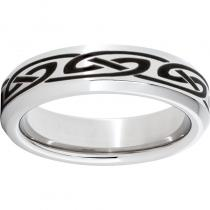 Serinium® Beveled Edge Band with a Knot Laser Engraving