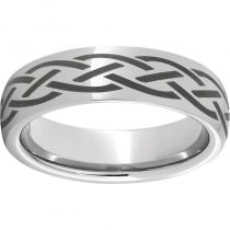 Serinium® Domed Band with a Braid Laser Engraving