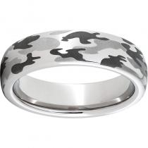 Serinium® Domed Band with a Camo Laser Engraving