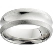Serinium® Concave Band with Stone Edges