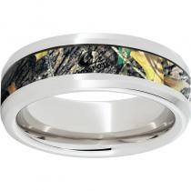 Serinium® Beveled Edge Band with Mossy Oak® New Break-Up Inlay
