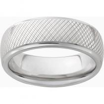 Serinium® Domed Grooved Edge Band with a Tuscany Laser Engraving