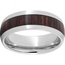 Serinium® Domed Band with Kingwood Inlay