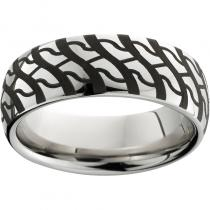 Serinium® Domed Band with Mudder Laser Engraving
