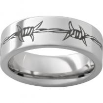 Serinium® Pipe Cut Band with Barbwire Laser Engraving
