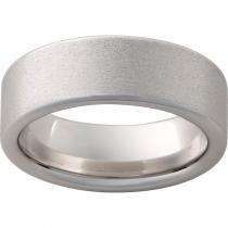 Serinium® Pipe Cut Band with Stone Finish