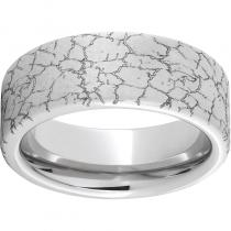 Serinium® Pipe Cut Band with Tectonic Laser Engraving