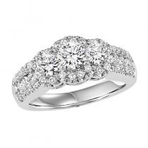 14K Diamond Ring 1 ctw