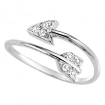 Silver Diamond Ring 1/10ct