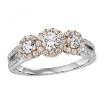 14K Diamond Engagement Ring 1 ctw Complete