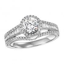 14K Diamond Engagement Ring 1/2 ctw