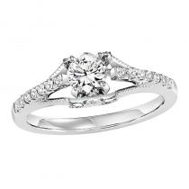 14K Diamond Engagement Ring 1/8 ctw