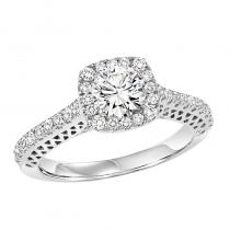 14K Diamond Engagement Ring 3/8 ctw