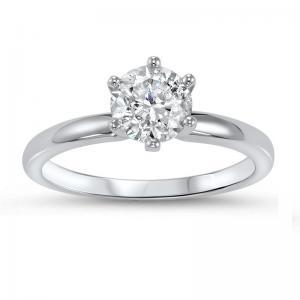 14K Diamond Solitaire Ring 1/2 ct