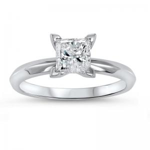 14K P/Cut Diamond Solitare Ring 1/3 ct