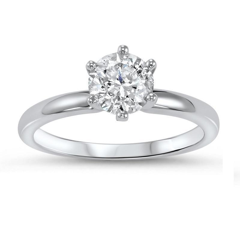 14K Diamond Solitaire Ring 1 ct