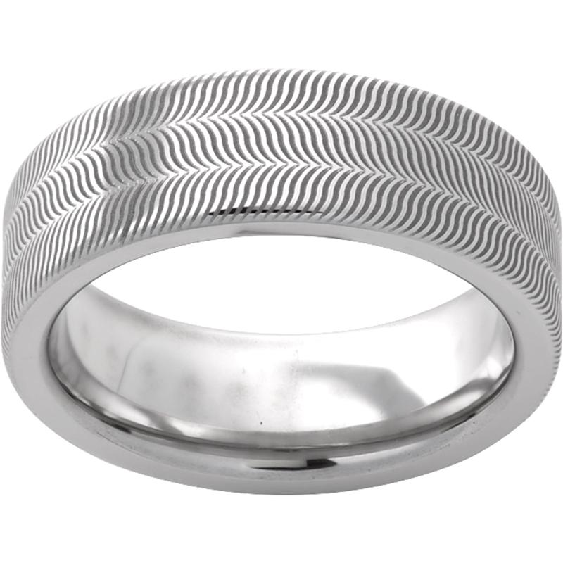 Serinium® Pipe Cut Band with Illusion Laser Engraving