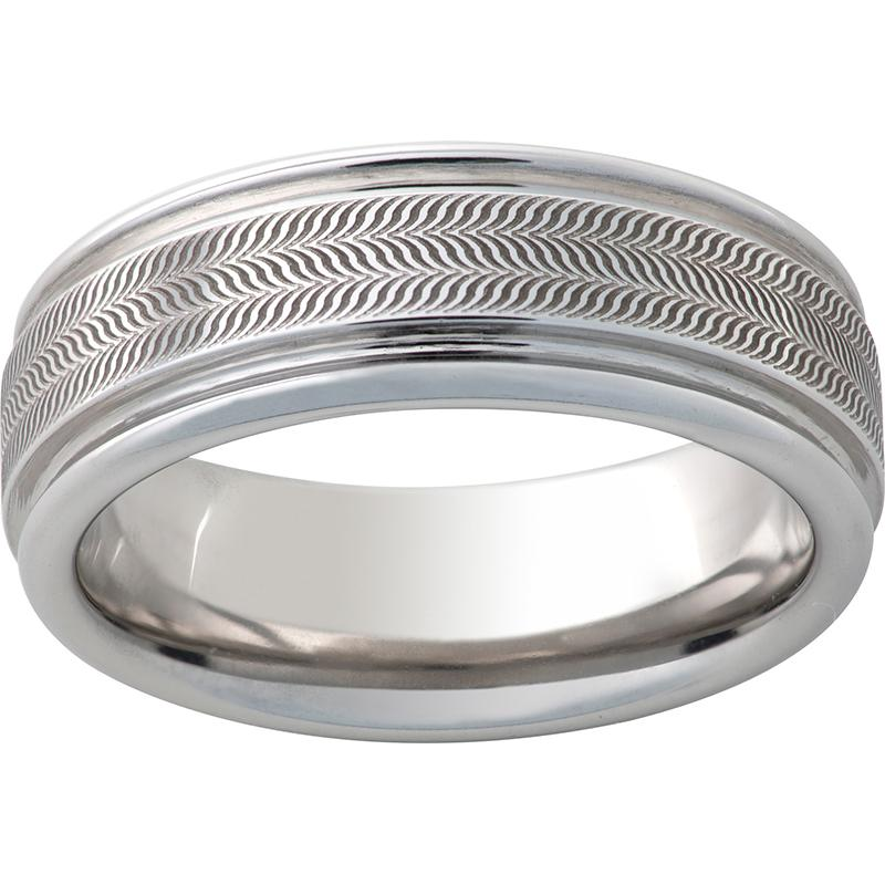 Serinium® Rounded Edge Band with Illusion Laser Engraving