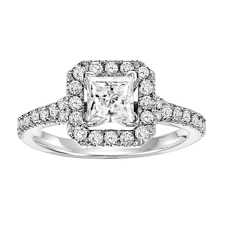 14K Diamond Engagement Ring 1/2 ctw with 5/8 ct Center
