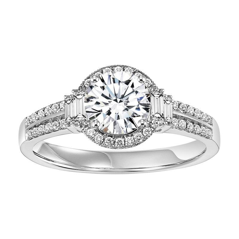 14K Diamond Engagement Ring 1/3 ctw With 1 ct Center