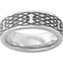 Serinium® Pipe Cut Band with Knot Laser Engraving