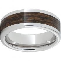 Serinium® Pipe Cut Band with Exotic Bocote Wood Inlay
