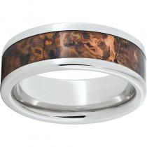 Serinium® Pipe Cut Band with Distressed Copper Inlay
