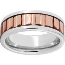 Serinium® Pipe Cut Band with New Jersey Copper Inlay