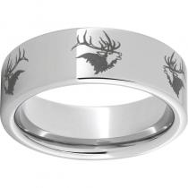 Serinium® Pipe Cut Band with Elk Head Laser Engraving