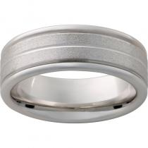 Serinium® Rounded Edge Band with Stone Finish and .5mm Groove