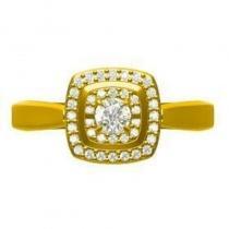 14K Diamond Rhythm Of Love Ring 1/5 ctw