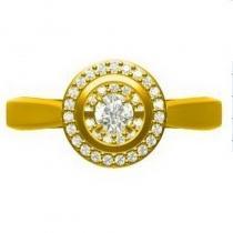 14K Diamond Rhythm Of Love Ring