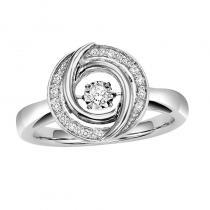 Silver Rhythm Of Love Ring