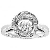 Silver Diamond ROL Ring 1/10 ctw