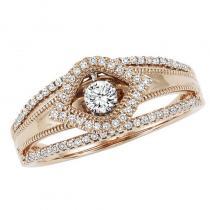 14KP Diamond ROL Ring 1/4 ctw