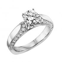 14K Diamond Engagement Ring 1/2 ctw with 1 ct Center