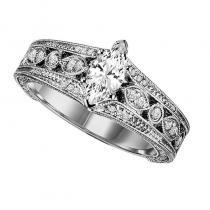 14K Diamond Engagement Ring 1/5 ctw