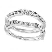 14K Diamond Insert Ring 3/4 ctw