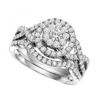 14K Diamond Engagement Ring 3/4 ctw with 1 ct Center