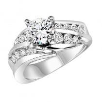 14K Diamond Engagement Ring 3/4 ctw