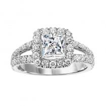 14K Diamond Engagement Ring 1 1/7 ctw With 1 1/2 ct Center