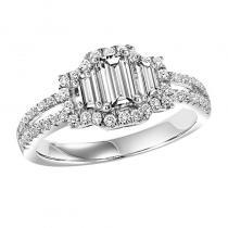 14K Diamond Engagement Ring 2 ctw