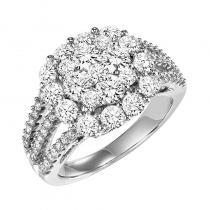 14K Diamond Ring 3 ctw