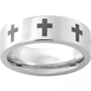 Serinium® Pipe Cut Band with Cross Laser Engraving
