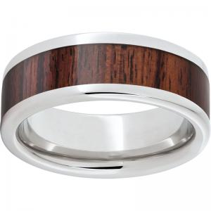 Serinium® Pipe Cut Band with Exotic Kingwood Inlay