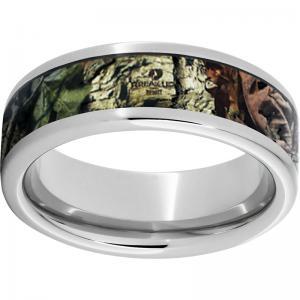 Serinium® Pipe Cut Band with Mossy Oak® Break-Up Infinity Inlay