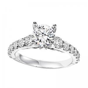 14K Diamond Engagement Ring 1 ctw With 1 ct Center Diamond